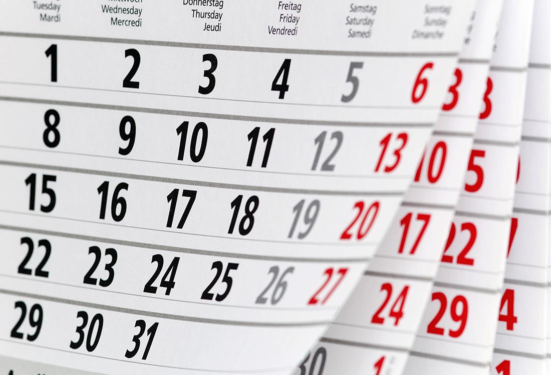 Bild eines Kalenderblattes für den Bereich Bewerbungstipps
