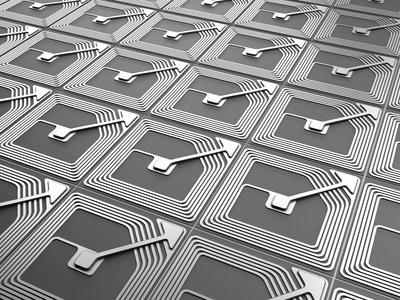 Darstellung mehrerer RFID Chips