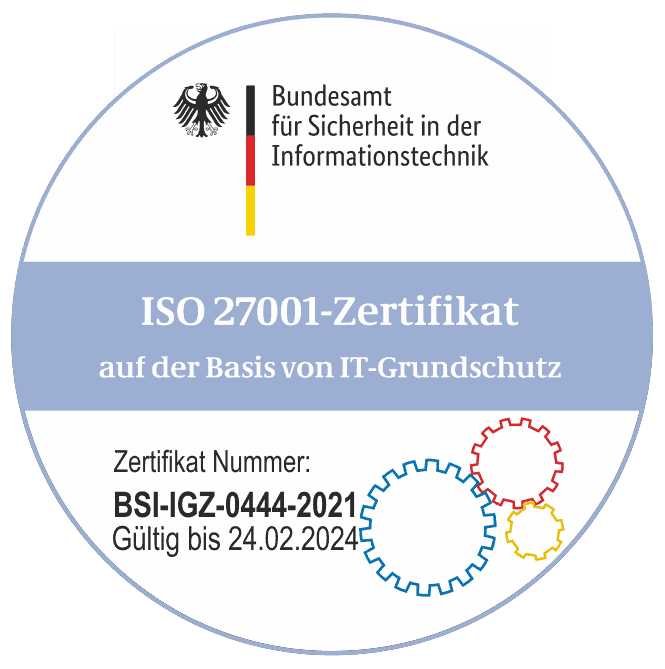 ISO Zertifikat 27001